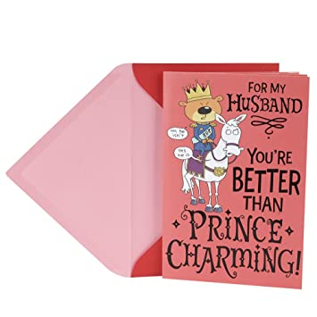 hallmark funny valentines day greeting card for husband prince charming poem book