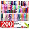 200 Coloring Gel Pens Set, Laneco 100 Unique coloring Pens Plus 100 ink Refills, 20% More Ink Than Normal gel Pen, Medium-Point (0.8 mm), Non Toxic & Acid Free , Ideal for Adult Coloring Book by Laneco