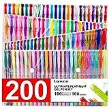 200 Coloring Gel Pens Set, Laneco 100 Unique coloring Pens Plus 100 ink Refills, 20% More Ink Than Normal gel Pen, Medium-Point (0.8 mm), Non Toxic & Acid Free, Ideal for Adult Coloring Book