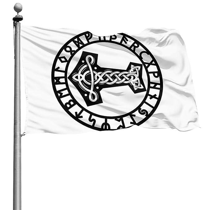 Amazon.com: EABGK Mjolnir y Runa Rueda Vikings Norse ...