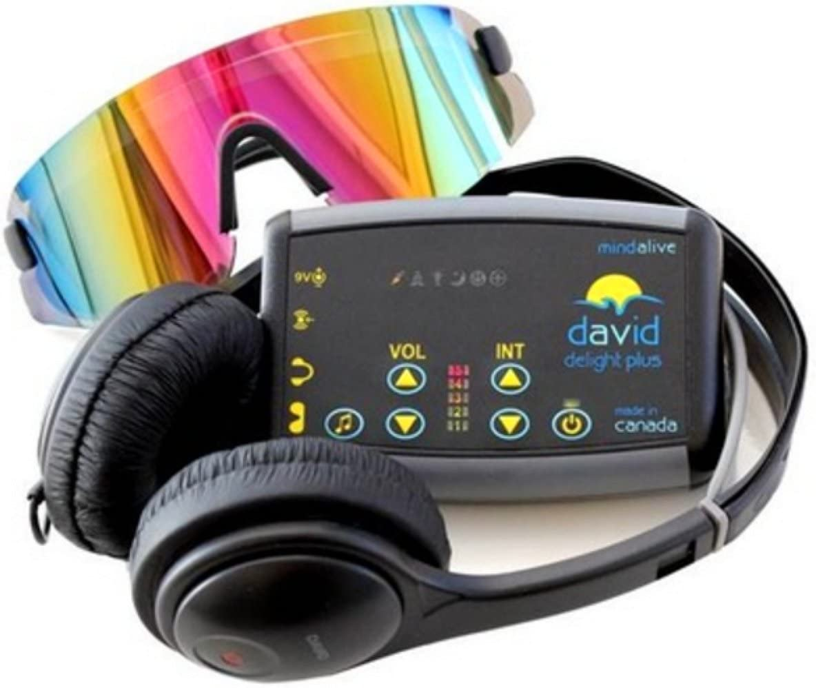 DAVID Delight Plus Mind Alive – Best Light and Sound Mind Machine for Brain Training, Meditation, Relaxation, Sleep, Mood, Mental Clarity. Academic and Sports Performance