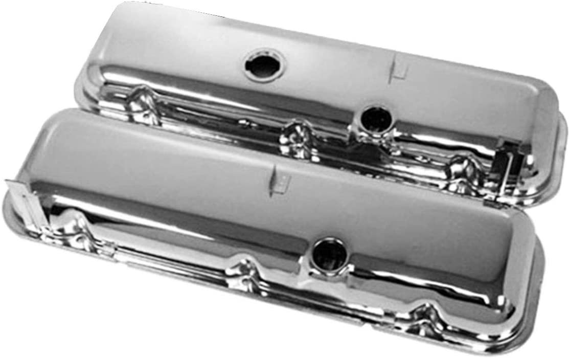 For 65-72 Chevy BB Big Block 396-427-454 Tall Oem Style Steel Valve Covers Chrome