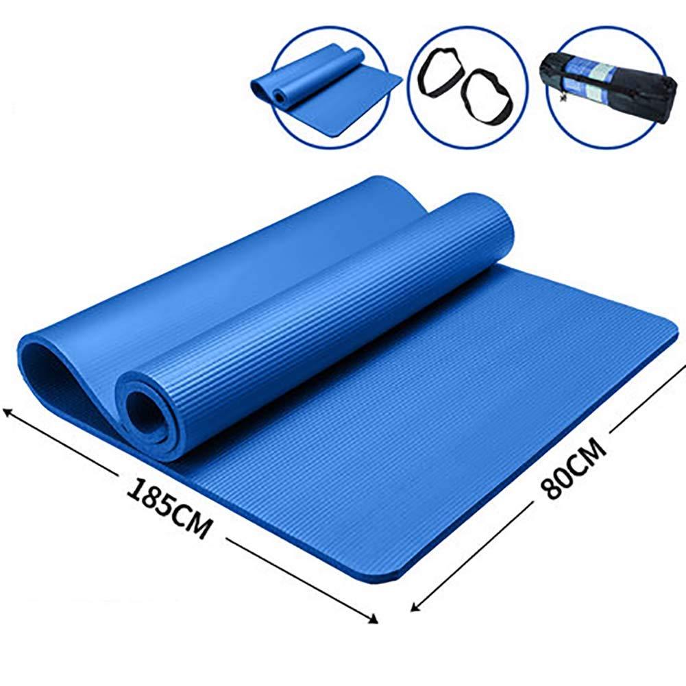 LHFFCt Gymnastikmatten Rutschfest Schadstofffrei, NBR, Yogamatte Umweltfreundlich, ÜBungsmatten, Pilates, Unisex, Meditationsmatte