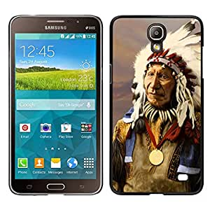 Design for Girls Plastic Cover Case FOR Samsung Galaxy Mega 2 Indian Native American Old Man Feathers OBBA