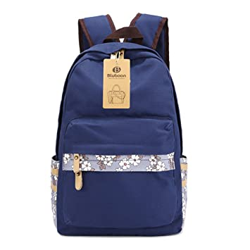 BLUBOON Girls Schoolbags Student Backpacks Book Bags College Style For TeenagersDark Blue