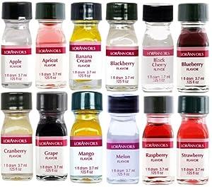 LorAnn Super Strength Pack #1 of 12 Fruity Flavors in 1 dram bottles (.0125 fl oz - 3.7ml) bottles