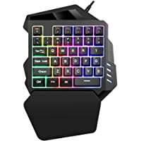 K13 Gaming Keyboard Mechanical One-Handed Keyboard Gamer Gaming Keyboard Mini Left-Hand Keypad for Video Games