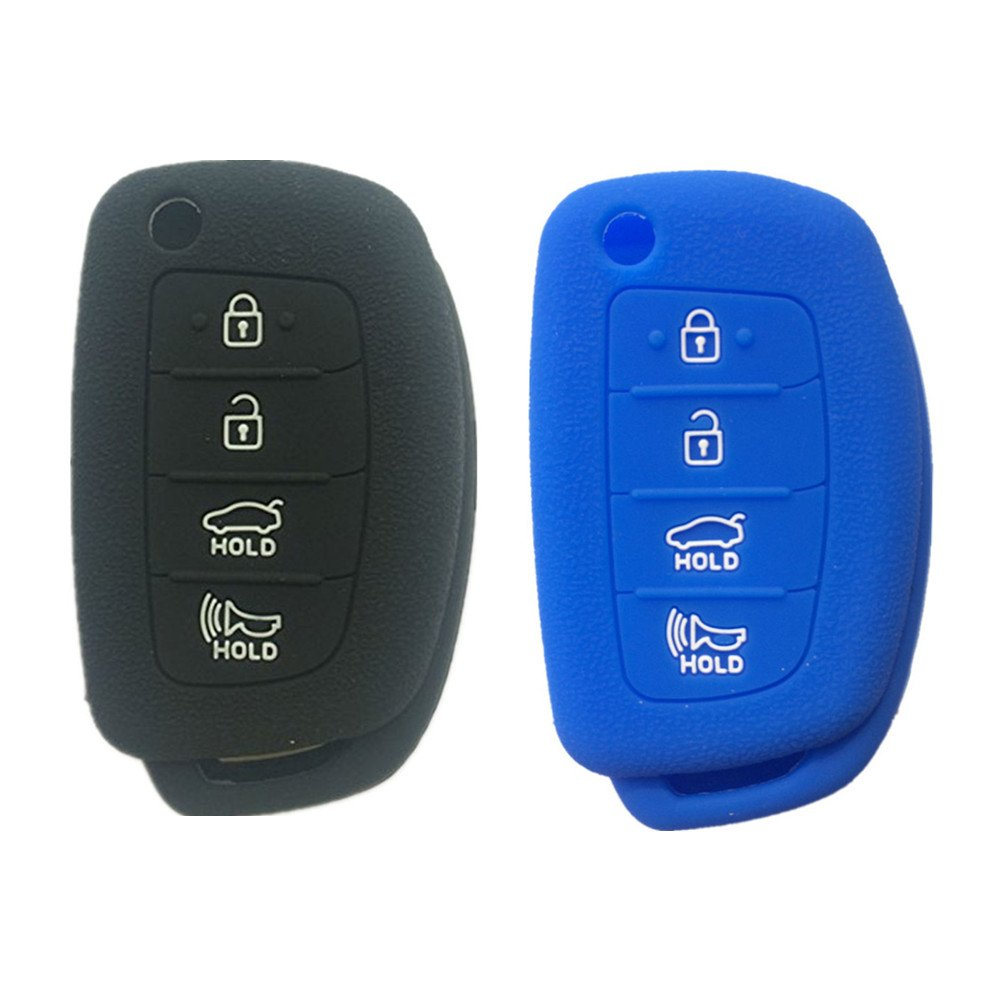 Uncut Blade Flip Entry Keyless Remote Key Shell Fob Key case 4 Buttons fit for 2013 2014 Hyundai Santa Fe 2013 2014 Santa Fe 4-door Keyless Professor