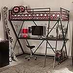 Duro Z Bunk Bed Loft with Desk - Black