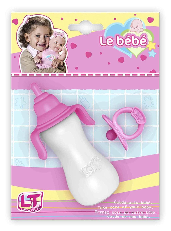 Amazon.es: Rosa Toys- Set Biberón+Chupete, Color Rosa ...