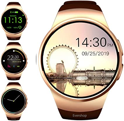 Amazon.com: Evershop Smart Watch Phone with TF SIM Card Slot ...