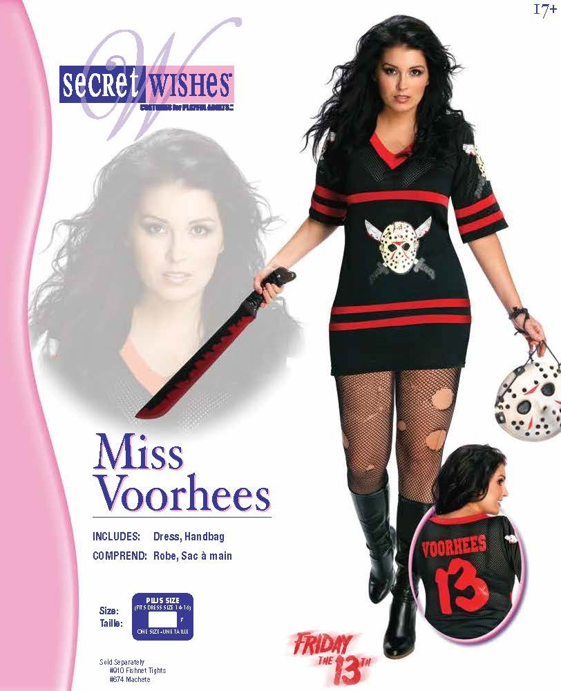 Rubie's Rubie's Rubie's Kostüm für Frauen, Jason Voorhees aus Freitag der 13., offizielles Lizenzprodukt, Größe XL 047dc7