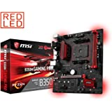MSI B350M GAMING PRO Socket AM4 AMD Ryzen 7th Gen Athlon DDR4 USB 3.1 Micro ATX Motherboard - Black