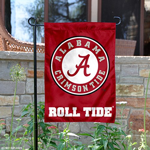 Alabama Crimson Tide Circle Logo Garden Flag (Alabama Crimson University Tide)