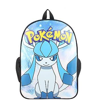 YOURNELO Boy s Girl s Cartoon Pokemon Colorful Pattern School Backpack  Bookbag ... d1dda143712c4