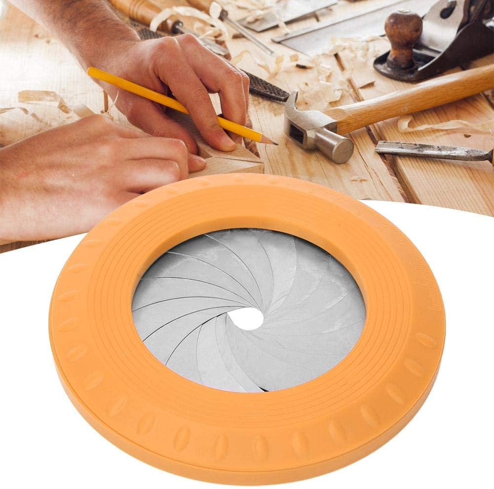Round Circle Drawing Tool Round Drawing Ruler Flexible Circle Drawing Kit Adjustable Measurement for Woodworking Yellow
