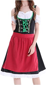 SANNYSIS - Vestido de fiesta de Oktoberfest para mujer, cosplay ...