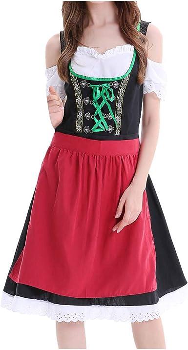 Trachten Deiser Damen Mini Dirndl Kleid Wiesn Schürze Bluse Knielang Oktoberfest