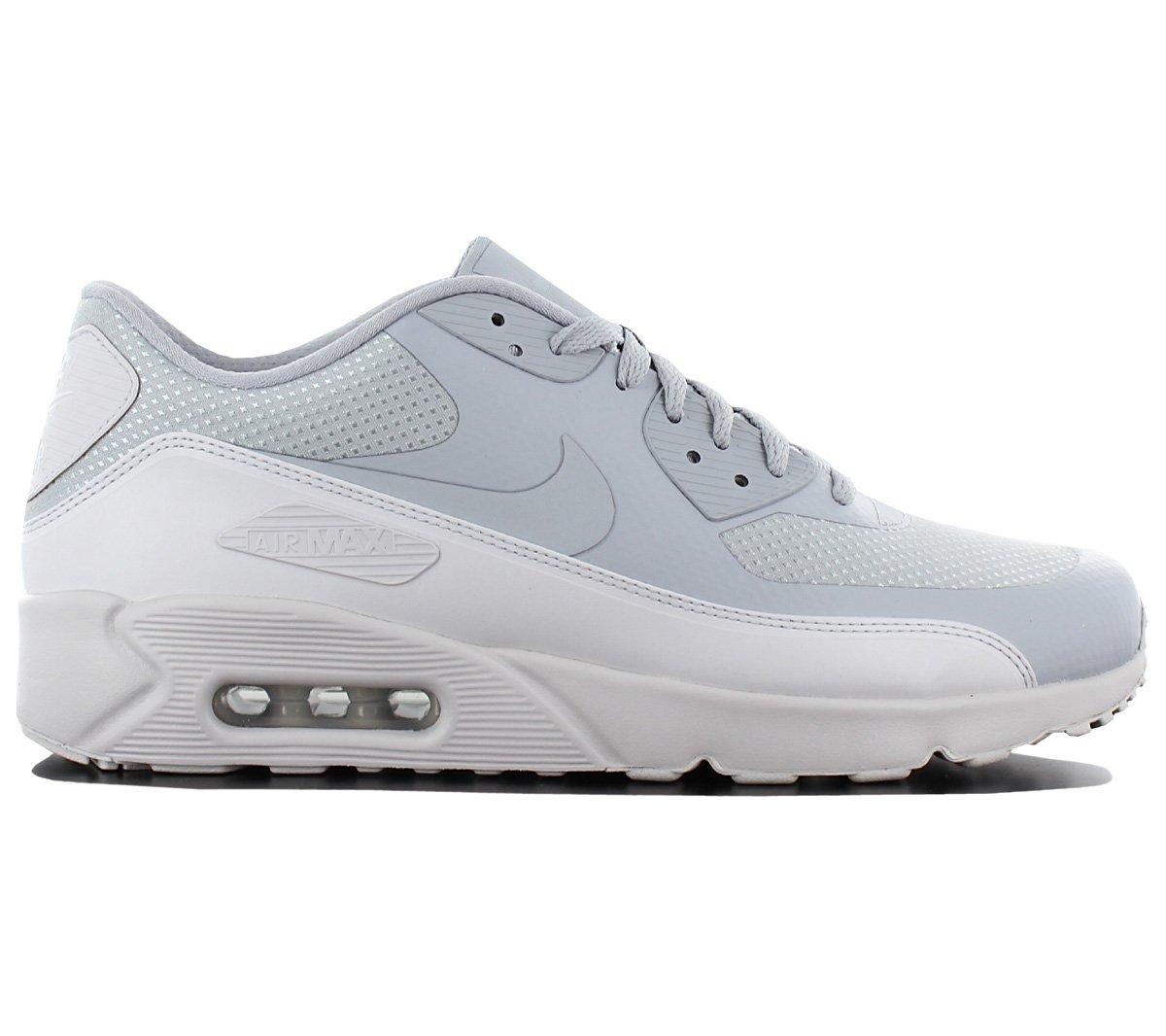 Nike Air Max 90 Ultra 2.0 Essential 875695-017 Herren Schuhe Sneaker Turnschuhe Grau-Weiszlig; Top  45 EU|Grau (Grau-grau)