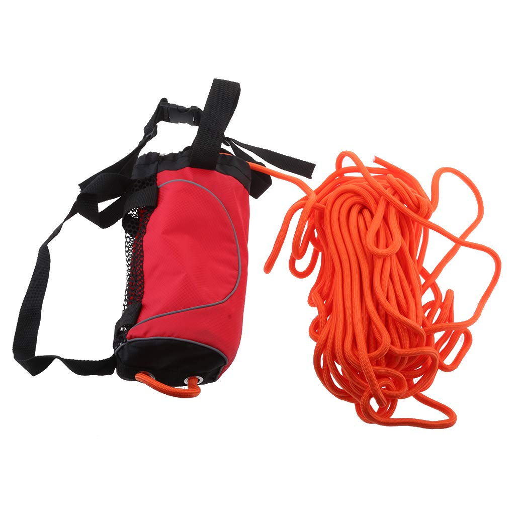 Flameer Red 85ft Safety Water Reflective Rescue Throw Bag Floating Rope Line Kit by Flameer (Image #3)