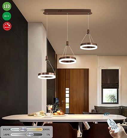 LED Lámpara colgante 3 lámparas Mesa de comedor Arañas de techo ...