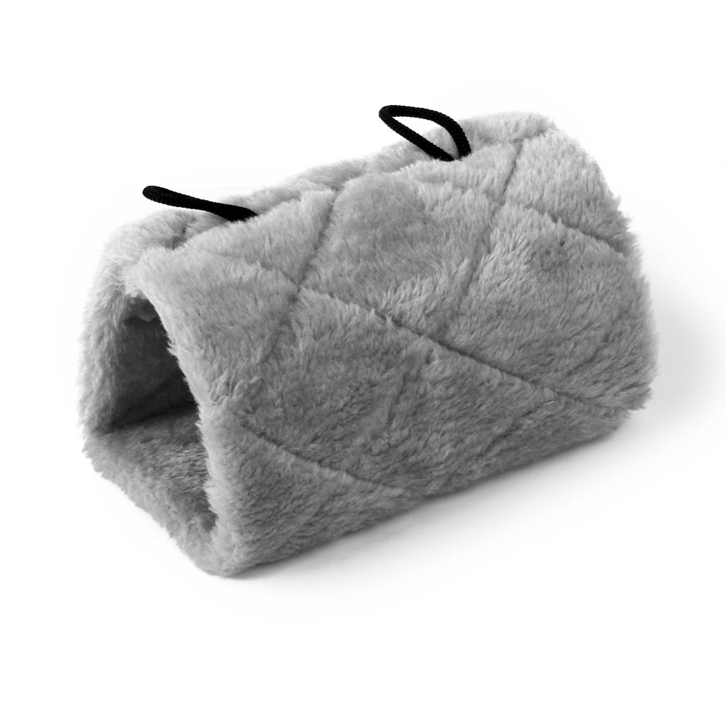 Parrot Bird Hammock Hanging Cave Cage Plush Snuggle Happy Hut Tent Bed Bunk Parrot Toy Gray Generic STK0114010172