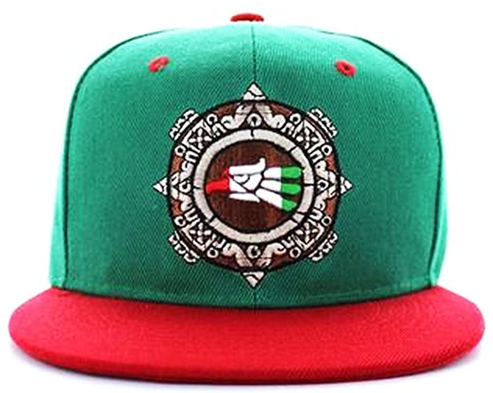 e83e5983484 Mexico Eagle Flat Snapback Cap Mexican Flag Hat Brown Pride Soccer Mexicano  LA (One Size Fits All) at Amazon Men s Clothing store