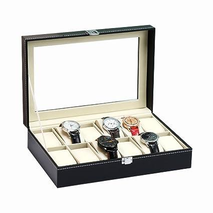 Amazon Com Decorative Jewelry Boxes Leather Watch Storage Box