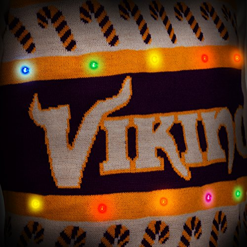 best authentic 5a286 10a16 NFL Minnesota Vikings Light-Up One Too Many Ugly Sweater, X ...