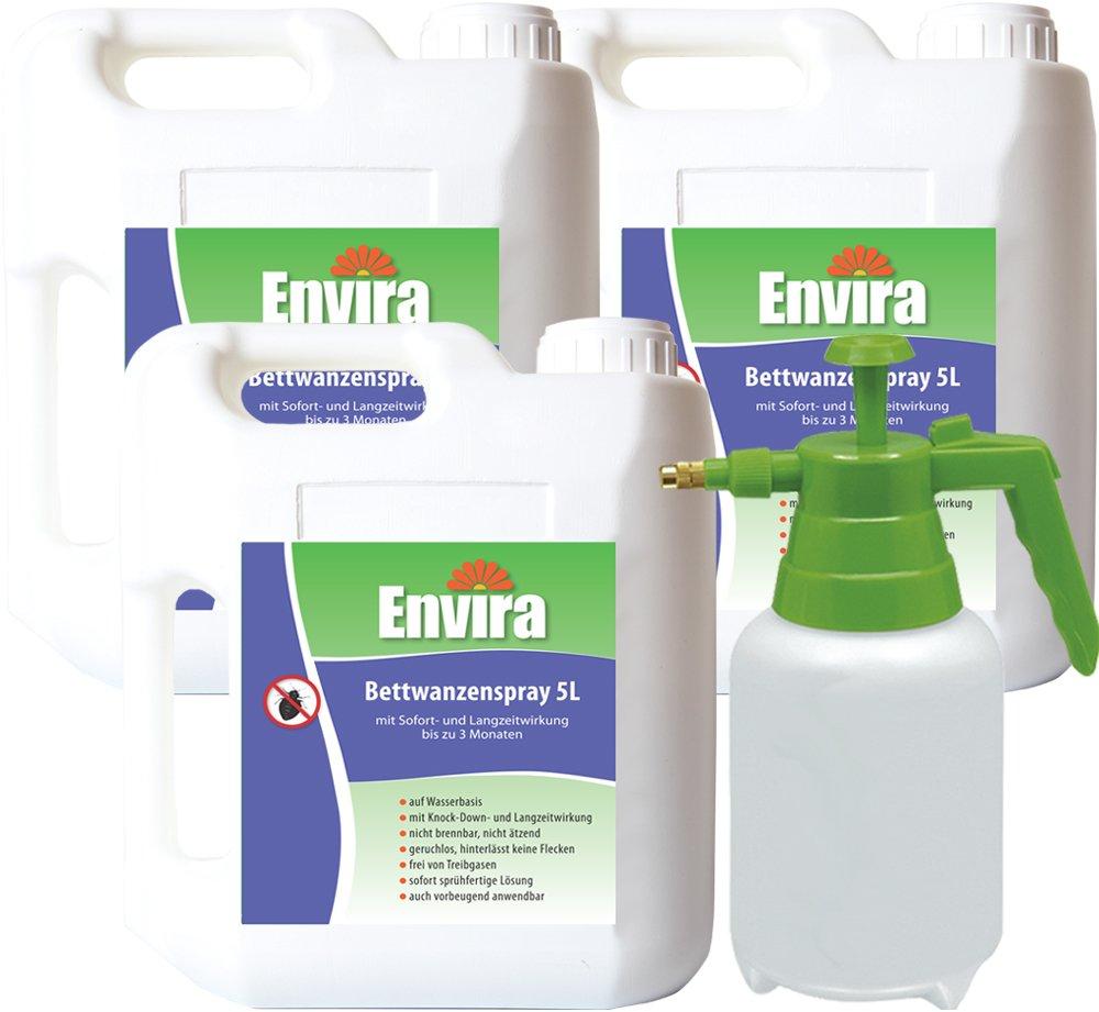 ENVIRA Bettwanzenschutz 3x5Ltr + 2Ltr Sprüher