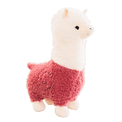 "Spring Country Alpaca Plush Toy, Llama Stuffed Animal Large 18"" Doll Plushie Hug Pillow Soft Fluffy Cushion Super Kawaii Gift for Birthday Girls and Lovers Washable: Toys & Games"