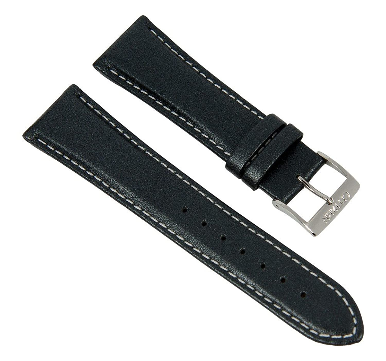 Uhrenarmband Ersazuband Leder Band graumetalic 22mm passend zu Citizen 59-S51760