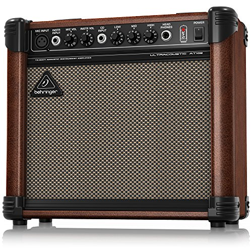 Behringer Ultracoustic AT108 Ultra-Compact 15-Watt Acoustic Instrument Amplifier Behringer Ultra Compact Microphone
