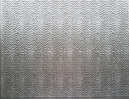 RETRO ART Crosshatch Silver Backsplash Panel Kitchen Bathroom Shower Interior Wall Paneling Decor, Residential, Commercial, 18