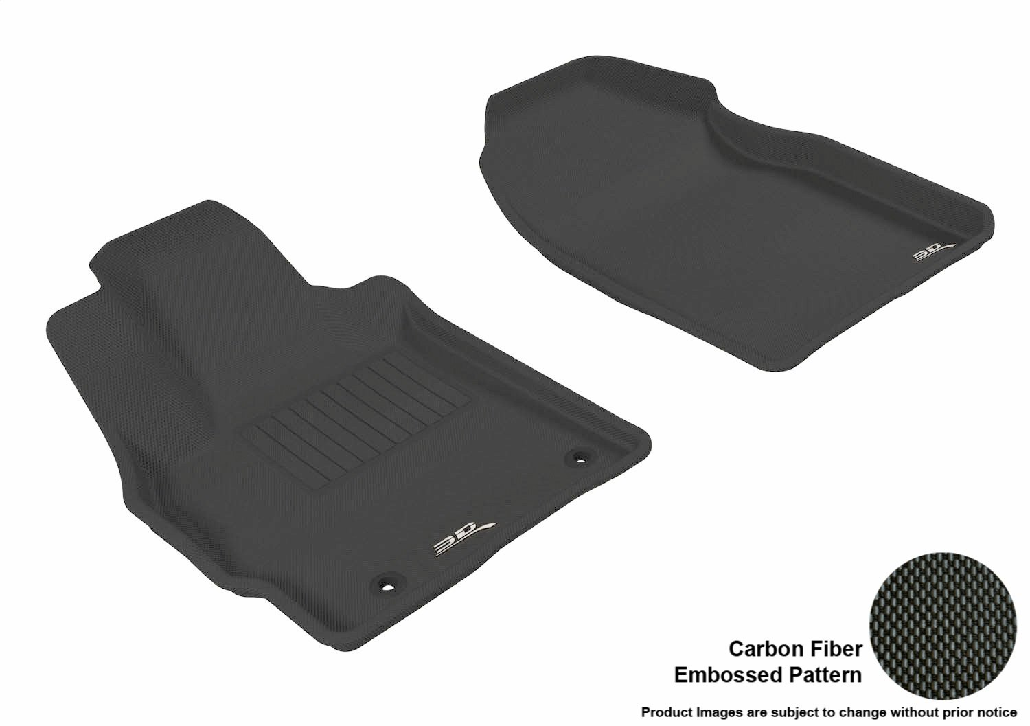 Kagu Rubber Tan 3D MAXpider Front Row Custom Fit All-Weather Floor Mat for Select Mazda CX-7 Models