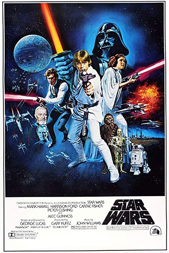 Amazon Com Star Wars Episode Iv A New Hope Movie Poster Style C 27 X 40 Prints Posters Prints