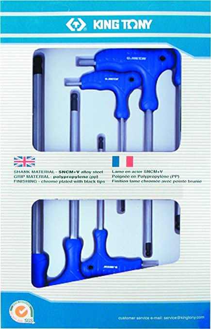 KT Pro Tools 22106MR 6-Piece Ball Hex Key Set