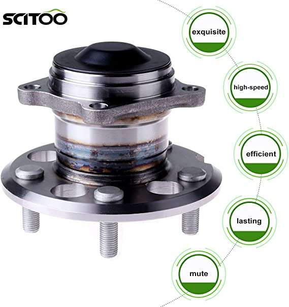 SCITOO Compatible with Rear Wheel Bearing Hub 512213 Hub Bearing Hub Assemblies 5 Bolts fits 1996-2005 Toyota RAV4 FWD Non-ABS Pack of 1