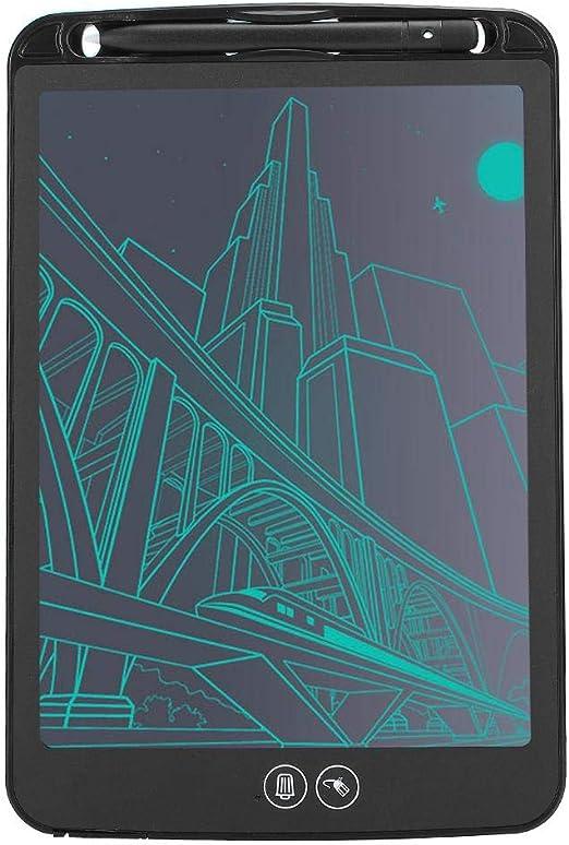手書きLCDホワイトボード10インチマットスクリーン子供用スマートライティングパッド(black)