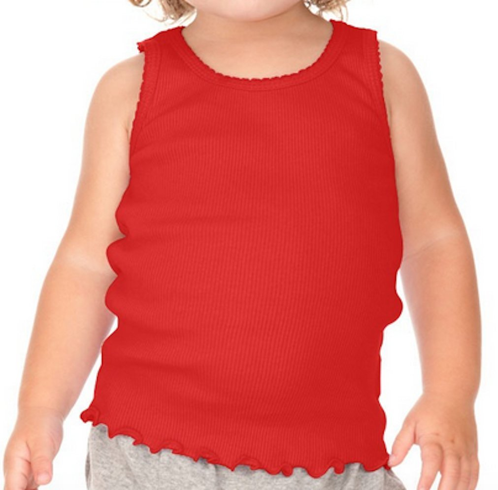 Kavio Girls Scalloped Beater Tank in Sizes 6 Months to 16 Years