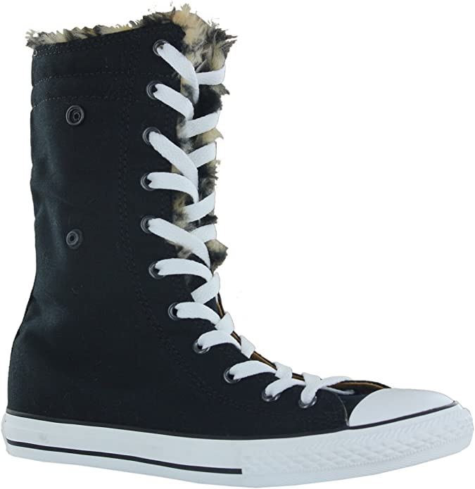 Juntar facultativo Medicinal  Converse Chuck Taylor All Star Knee-Hi Trainers - Black: Amazon.co.uk: Shoes  & Bags