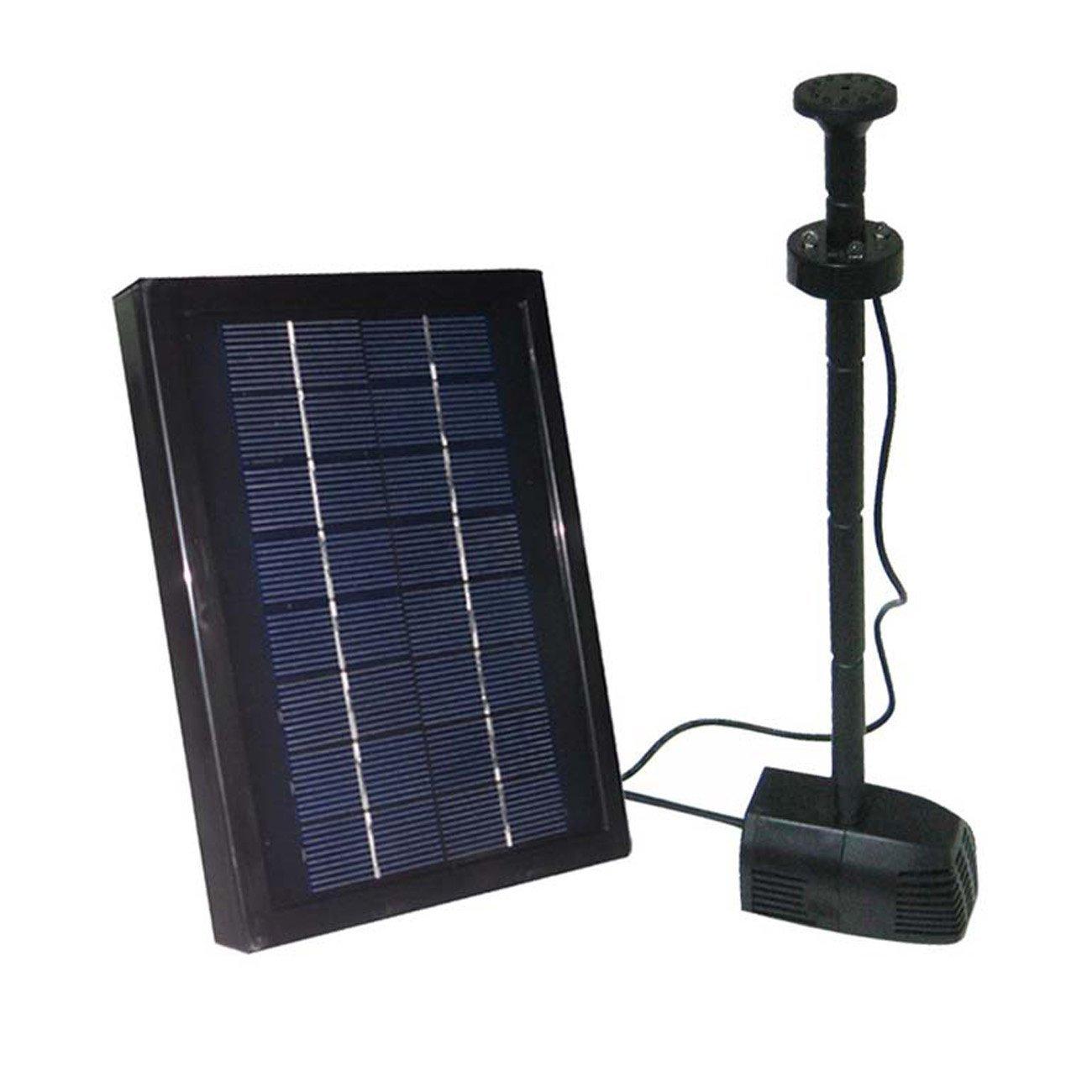 amazon com 2 5 watt solar water pump kit with battery pond