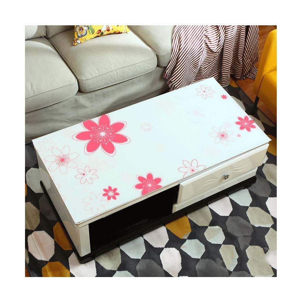 LIGONG レストランデスクトッププロテクタークリスタルプリントpvc柔らかいガラステーブルマットテーブルクロスに適しテーブルコーヒーテーブルマルチサイズ (サイズ さいず : 90*160センチメートル) 90*160センチメートル  B07S1W7NGJ