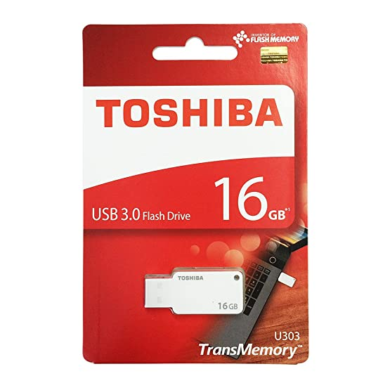 Toshiba 16GB TransMemory U303 USB 3.0 Flash Drive White Pen Drives at amazon