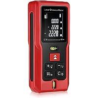 Télémètre laser 80m InLife Mesure laser portable avec écart maximum 2mm, Support Distance/Superficie/Volumétrie/Pythagoras,Niveau à Bulle Intégré, IP 54