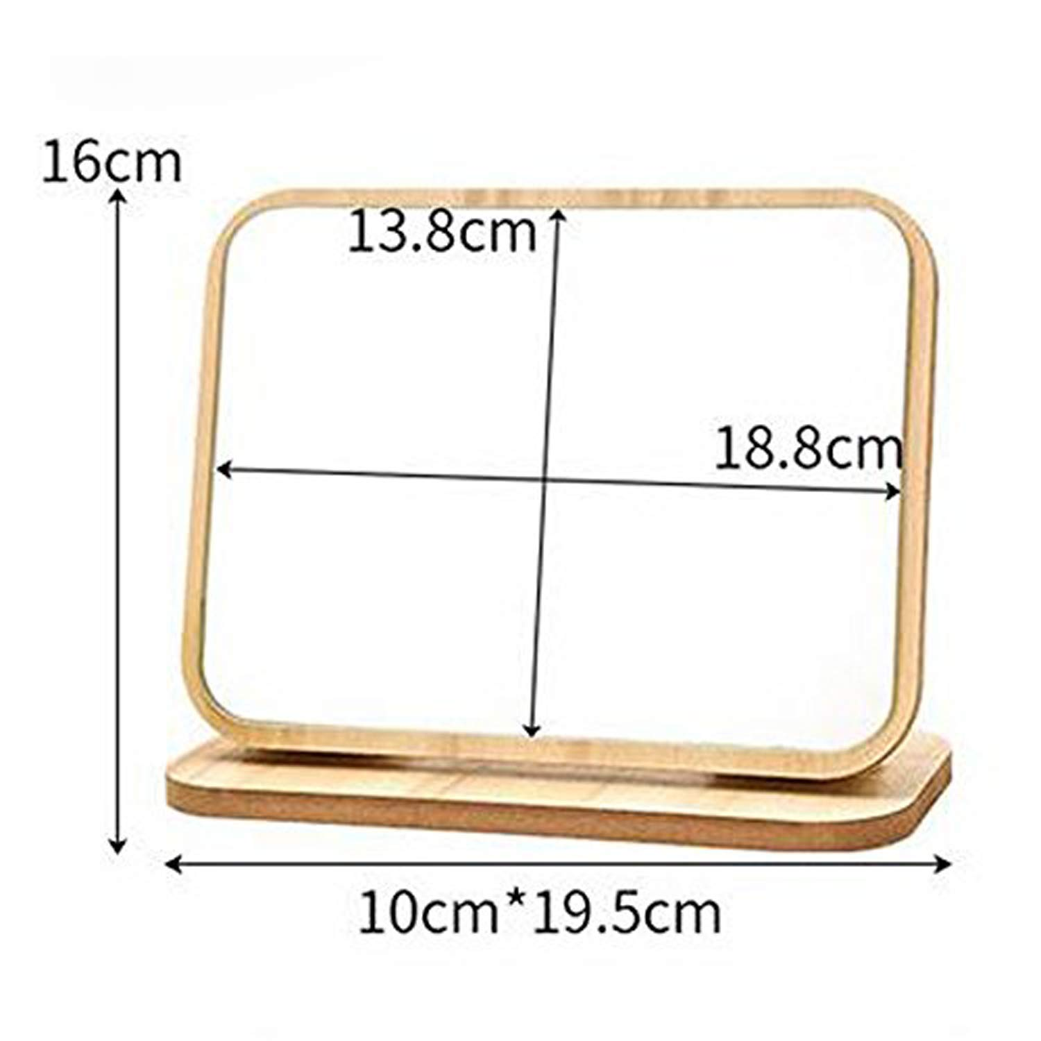 GOHIDE High Definition Cosmetic Mirror Wooden HD Makeup Mirror Simple Beauty Mirror Dressing Folding Simple Portable Large Desktop by GOHIDE (Image #2)