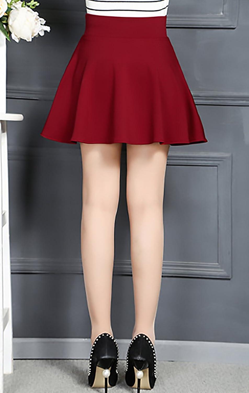 f38dfe152 Falda Plisada Mujer Elegantes Vintage Una Línea Ropa Dama Moda ...