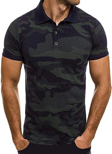 Camisas Hombre Manga Corta 2019 Moda SHOBDW Verano Cuello Mao Blusa Casual Estampado de Camuflaje Camisetas Hombre Basicas Slim Fit XXL: Amazon.es: Ropa y accesorios