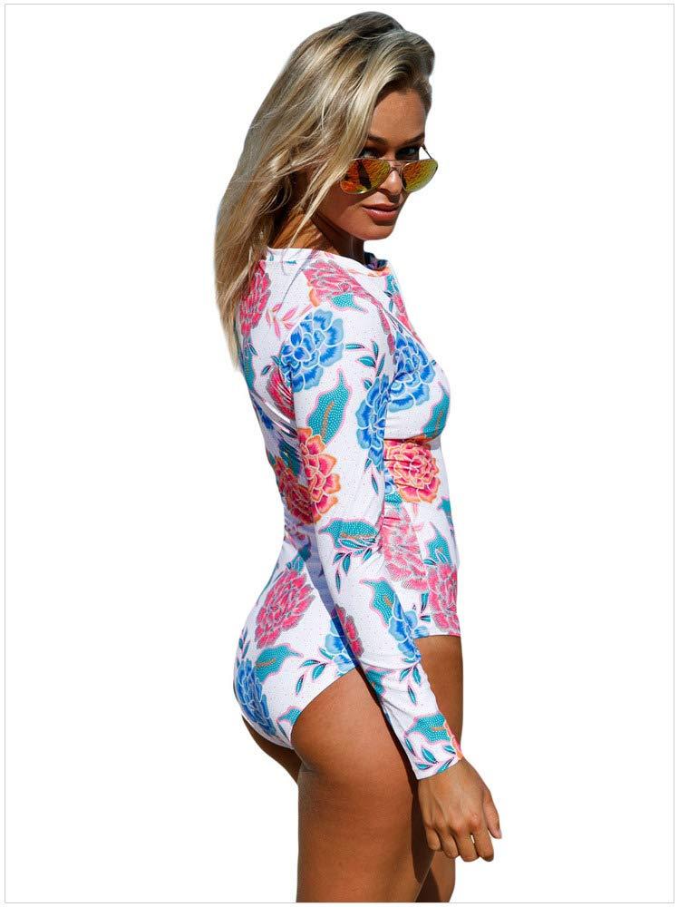 Songlin@yuan Einteiliger Damen-Badeanzug, tief geschnitten mit mit mit Reißverschluss und bedrucktem Muster, hoher Größe und sexy Bikini wunderschönen B07PZ6Y93J Bikini-Sets Ausgewählte Materialien 976be9