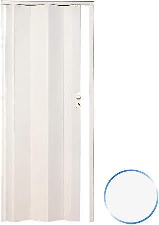 Forte Puerta Plegable de Interior de PVC Blanco Pastel 83x214 cm Mod.Maya: Amazon.es: Hogar
